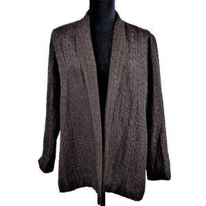 Eileen Fisher Women's PL Blazer Jacket Silk Linen